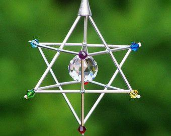 Joya de Opalite serenidad estrella Merkaba por windyscreations
