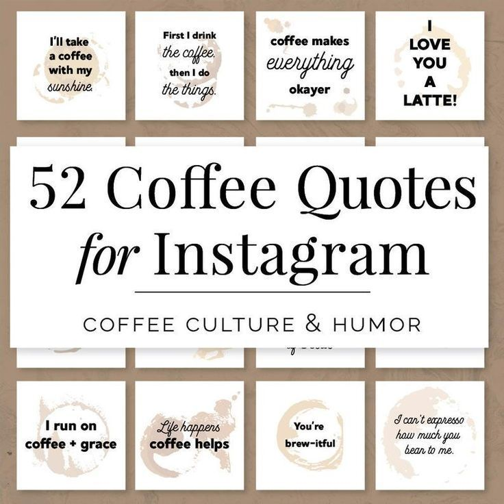 Coffee Quotes For Instagram Coffee Quotes For Social Media Etsy Coffee Quotes Coffee Shop Branding Coffee Instagram