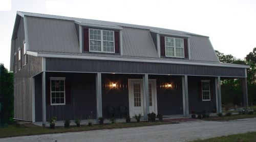 3500 SF of Space for $36,995 the Steel Metal Home Gambrel Building Shell Kit, manufactured in the US. Come as Small as 1,000 SF $5,641