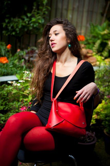 The Midi Pop Up now in red, but also worn with the strap holster fashion. Only available from www.brightcolours.co.uk