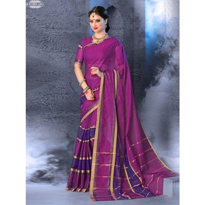 Chennai Express Cotton  Pink Designer Sarees
