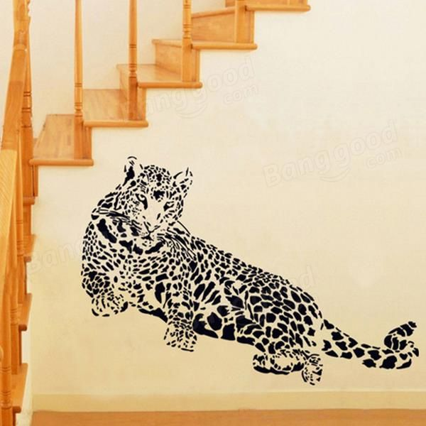 Cheetah Wall Sticker Living Room Home Decoration Car Decor Creative Decal DIY Mural Wall Art