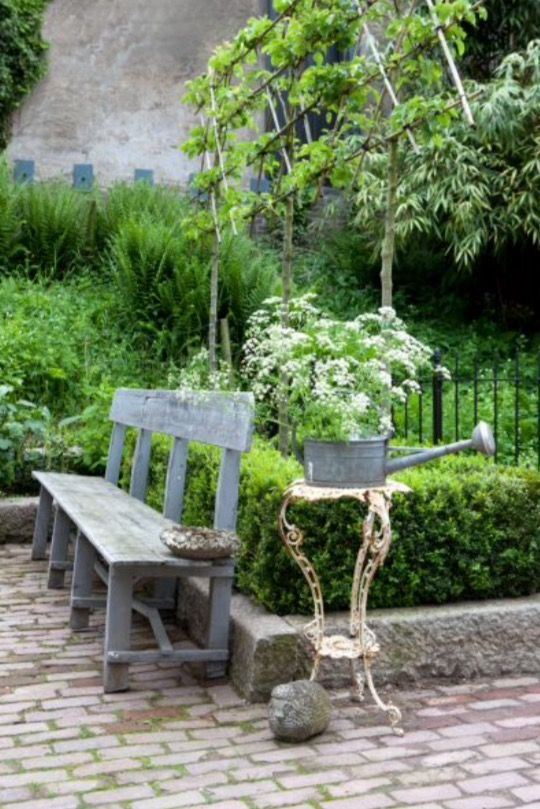 """This nice garden bench is from our feature """"Pursuit of Pleasure"""""""