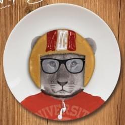 Petite Assiette Wild Dining Bébé Lion - cadeau maestro - 12€