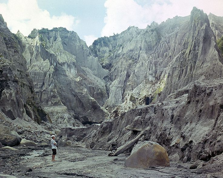 Bizarre lava formations at the pinatubo