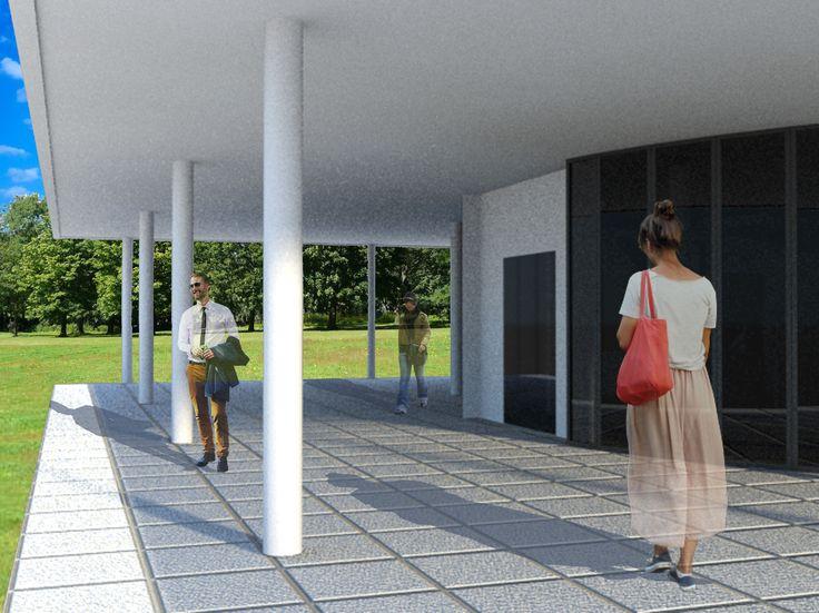 villa savoye / 3D max / exterior view