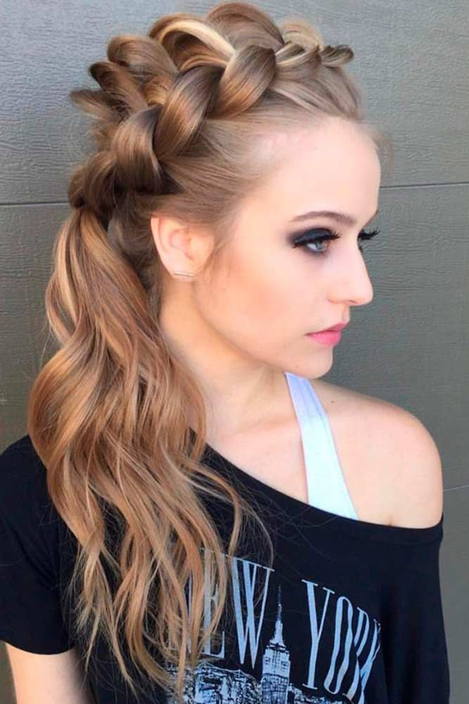 55 Incredible Hairstyles For Thin Hair In 2020 Prom Hairstyles For Long Hair Braided Ponytail Side Ponytail Hairstyles Tutorial