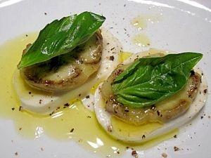 """Caprese Salad with egg apple"" - japanese recipe/ナスのカプレーゼ"