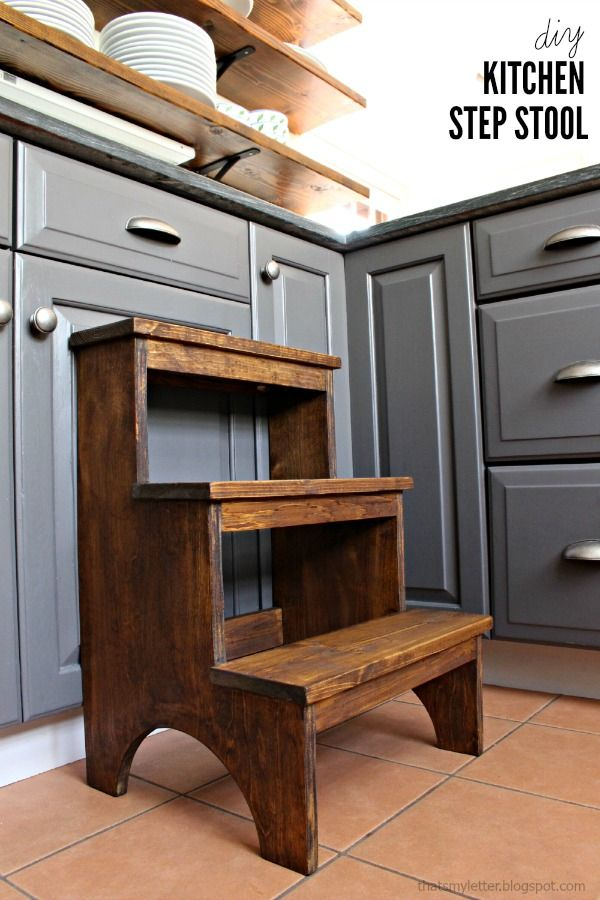 DIY 3 Step Kitchen Stool