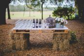 Hay bale bar inspiration for a relaxed wedding // The Natural Wedding Company