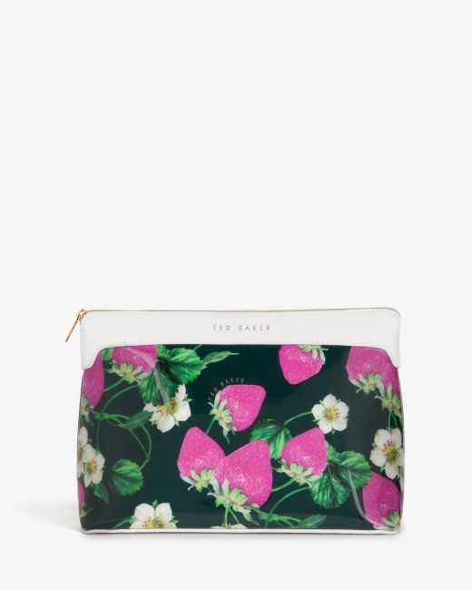 Large strawberries and cream wash bag - White   Outlet   Ted Baker UK