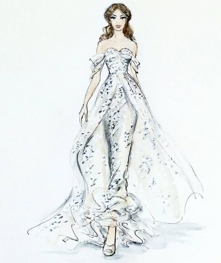 356 best Brides dress sketches images on Pinterest | Fashion ...