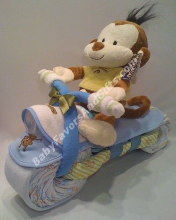 Motorcycle Diaper Cake by babyfavors on Etsy, $82.00