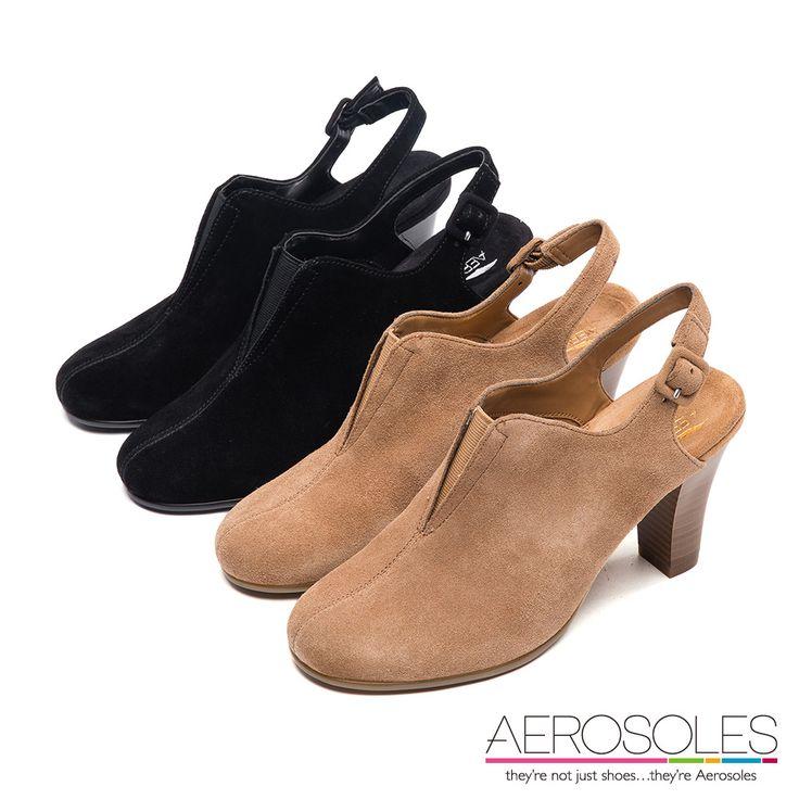 1800- 前衛風尚麂皮後拉帶高跟鞋~時髦黑 - Yahoo!奇摩購物中心