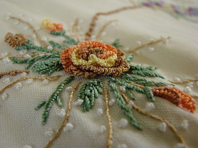 Brazilian embroidery by ArtsieAspie, via Flickr