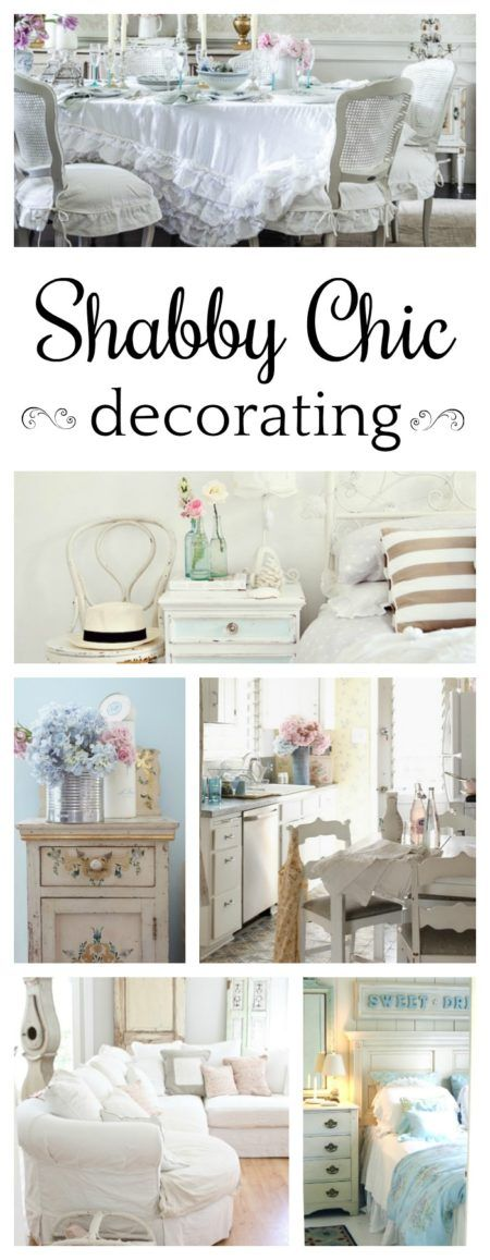 Shabby Chic Decorating Repinned by *Doniele Disney* www.poppiespaintpowder.com