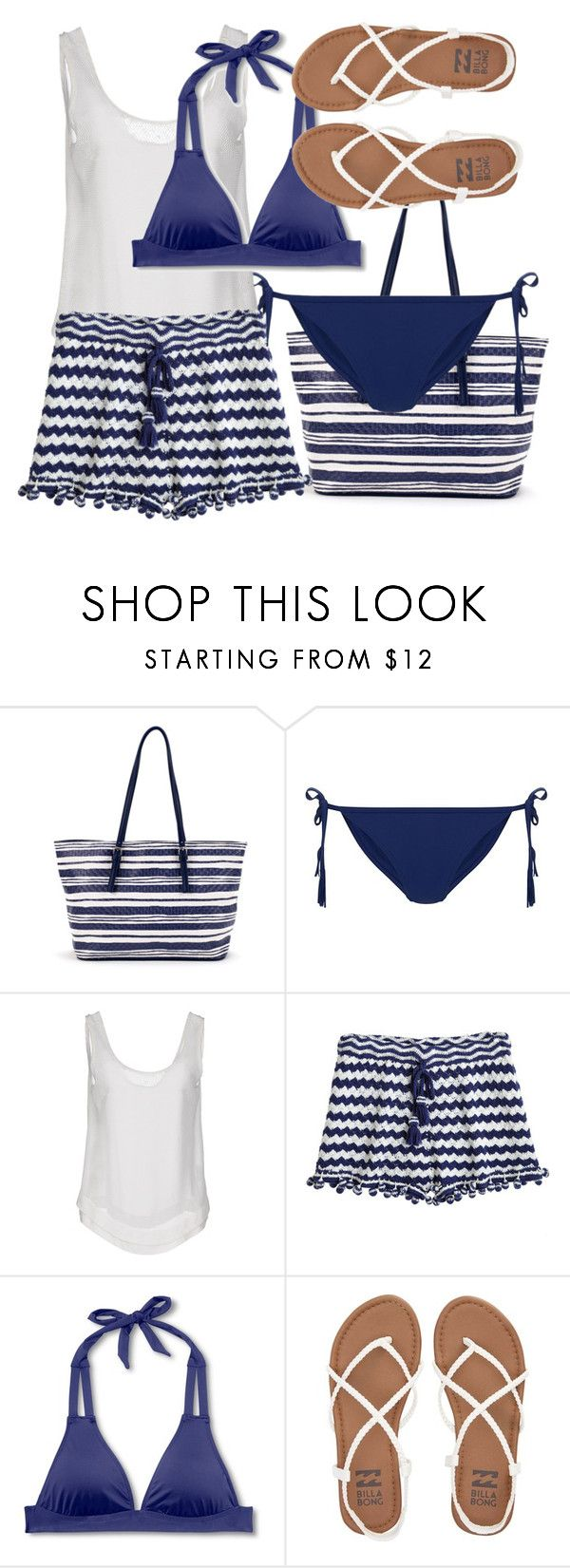 """""""Blue bikini"""" by juliehalloran ❤ liked on Polyvore featuring New Look, Le Ragazze Di St. Barth, Calypso St. Barth, Mossimo and Billabong"""