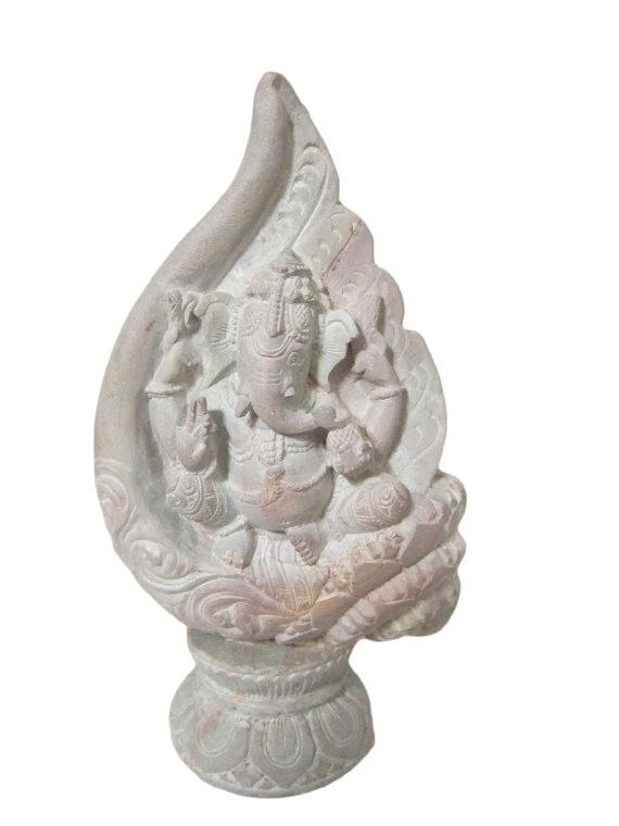 Good Luck Ganesh Statue Lord Ganesha in Conch by MOGULGALLERY