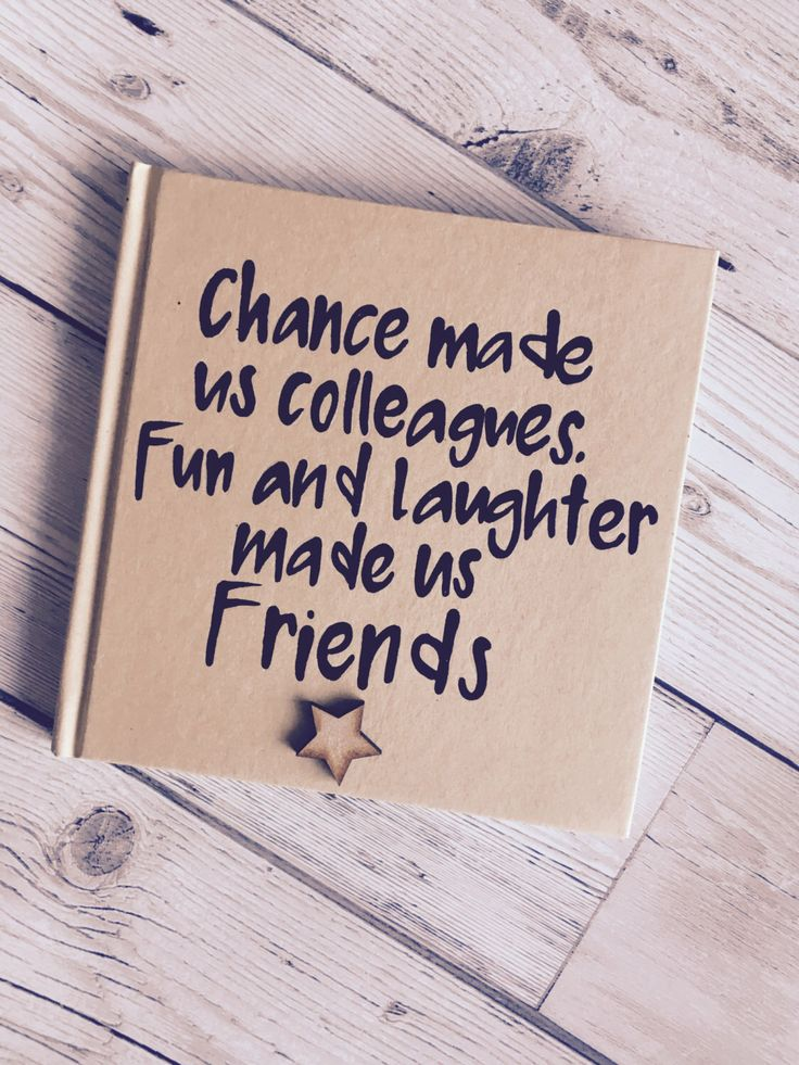 professional farewell letters%0A Items similar to Chance made us colleagues Kraft notebook funny handpainted  notes lined notebook friend on Etsy
