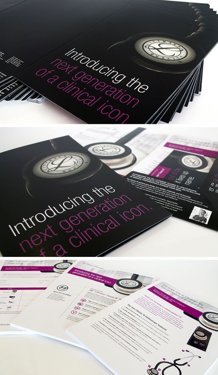 Launch packs welcoming the new generation 3M Littmann Classic III Stethoscopes See more > http://ow.ly/JBPu7  #GraphicDesign #Littmann #Printing #LittmannStethoscopes #Logo #CorporateIdentity #PrintDesign #Print #Corporate #Sophisticated #Layout #DesignStudio