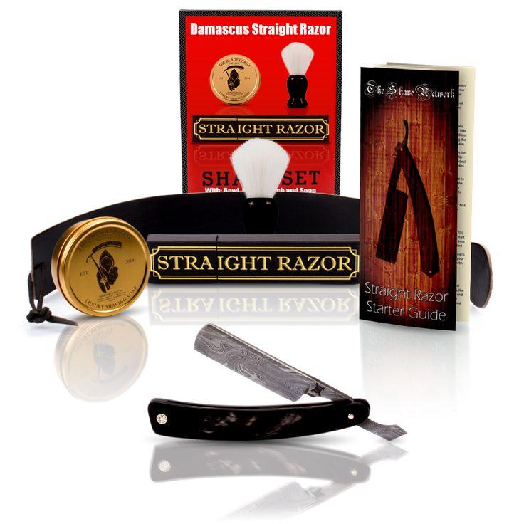 $100 Off Buffalo Horn Damascus Straight Razor and Luxury Shave Set - StraightRazor.com