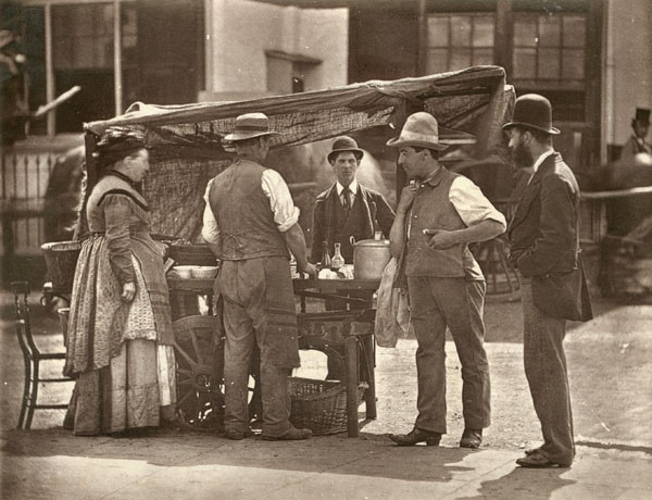 The Sellers of Shell-fish From 'Street Life in London', 1877, by John Thomson and Adolphe Smith: