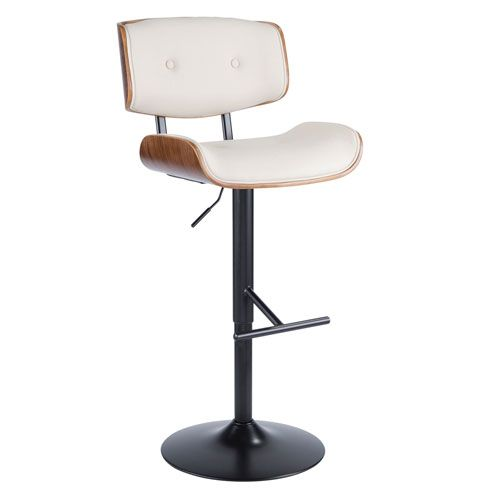 Lumisource Lombardi Walnut And Cream 38 Inch Adjustable Swivel Bar Stool Bs Jy Lmb Wl Cr Bellacor In 2021 Adjustable Bar Stools Bar Stools Lumisource 38 inch bar stools