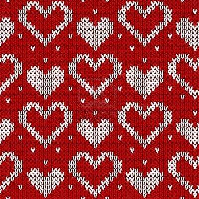 Red Knitted Background With Hearts. Vector Illustration. Royalty Free Cliparts, Vectors, And Stock Illustration. Image 11487586.