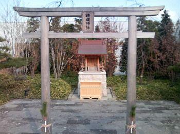 博多駅ビル屋上の「鉄道神社」