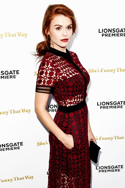 Holland Roden attends the Los Angeles Premiere of Lionsgate's 'She's Funny That Way' at Harmony Gold on August 19, 2015 in Los Angeles, California.