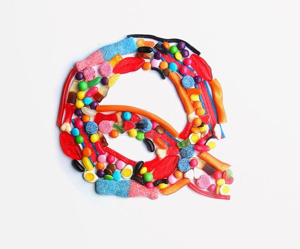 I Want Candy Experimental Typography 2009 by Samuel Carter Mensah, via Behance