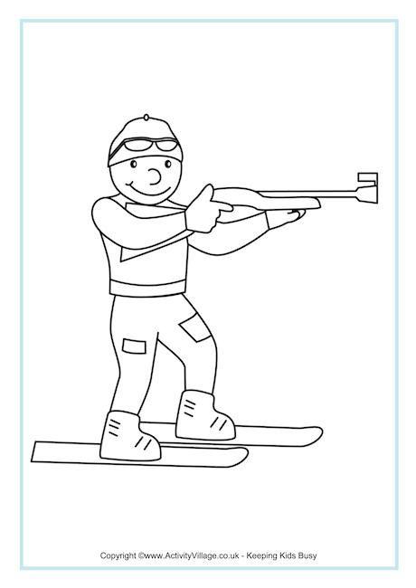 55 best Winterspelen Kleurplaten images on Pinterest