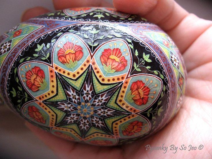 Over The Rainbow Ukrainian Easter Egg Pysanky By So Jeo