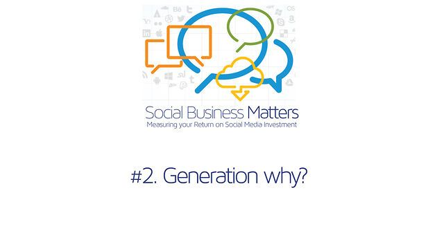 Social Business Matters - Gen Y by NCTAFE. Social Business Matters. Measuring your Return on Social Media Investment.  With TAFE NSW - North Coast Institute #virtualhype