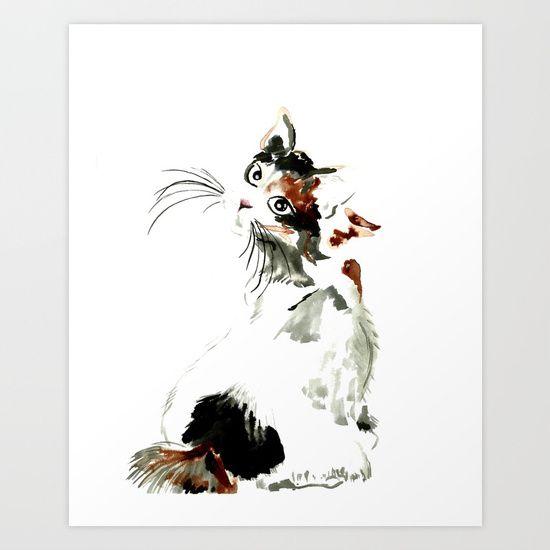 Bobtail cat Art Print