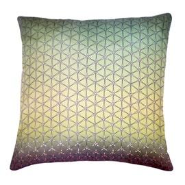 Nitin Goyal Geo Multi Ombre Silk Cushion