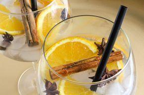 Gin-tonic met sinaasappel, kaneel en steranijs