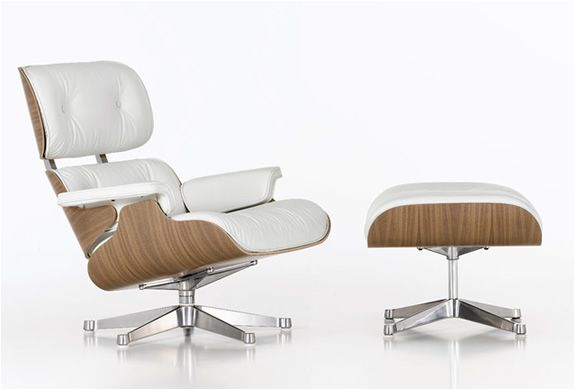 The Lounge Chair. Designed by Charles and Ray Eames in 1956. Over-marketed and cloned, but still a beautiful classic.