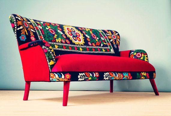 canap de suzani 3 places automne par namedesignstudio sur etsy upholstery. Black Bedroom Furniture Sets. Home Design Ideas