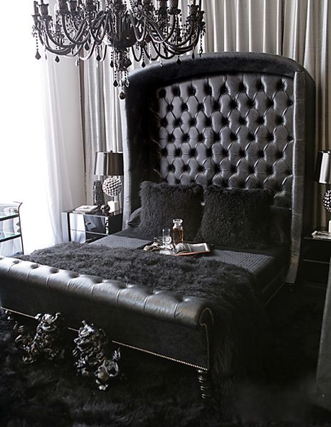 I Would Have Pink Mixed In But This Black Bed Is Perfect