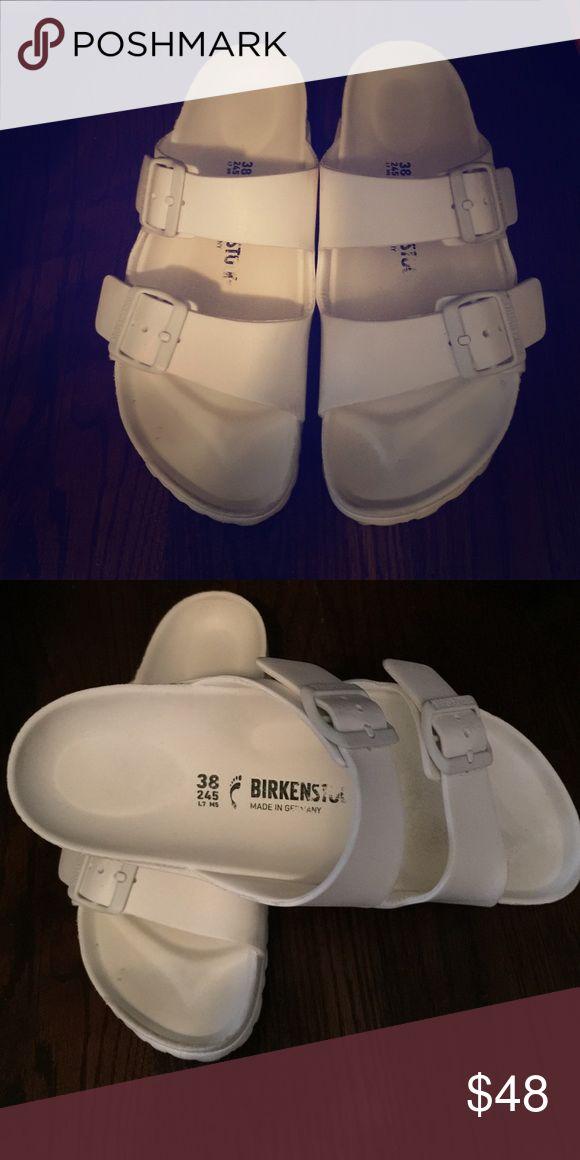 Birkenstock slipper White Birkenstock. Bought it recently in May in Asia. Birkenstock Shoes Sandals