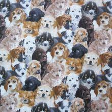 Ancho 110 cm Perros Perro de Dibujos Animados de Tela 100% Tela de Algodón Tela Impresa Patchwork Material de Costura Para Diy Vestido de Ropa de Bebé(China (Mainland))