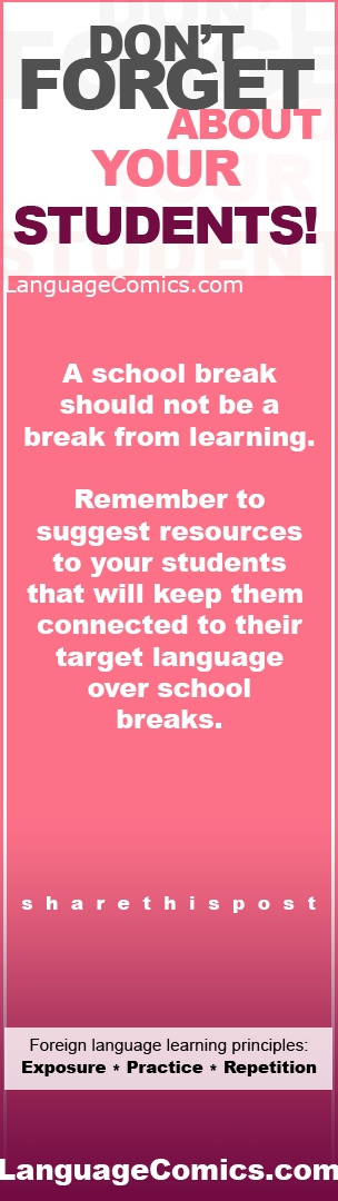 Keep your students learning over school breaks!  Like and share this post if you think this is useful.    https://www.languagecomics.com/pol-flor-episode-guide/  -------------------  Also find us on:  http://www.Youtube.com/languagecomicsteam  http://www.Pinterest.com/languagecomics