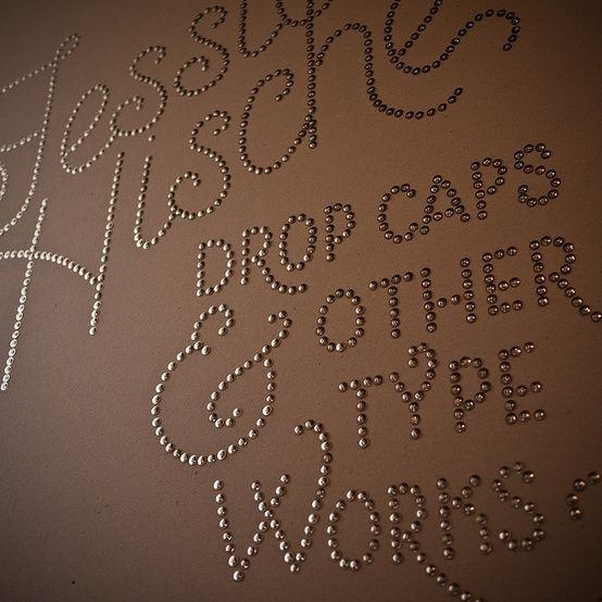 thumbtack font wall art