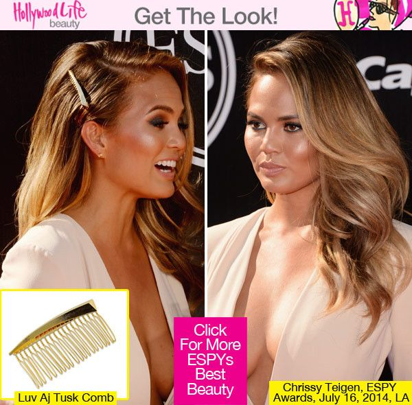 Chrissy Teigen's Stunning Hair At ESPY Awards — Her Exact Gold Comb