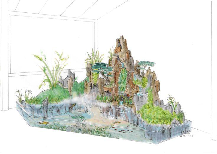 Plus de 1000 id es propos de dessin et plume sur pinterest for Jardin japonais dessin