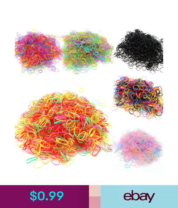 1100pcs//Bag Small Elastic Hair Bands Braids Poly Rubber Plaits Braiding Mini AB