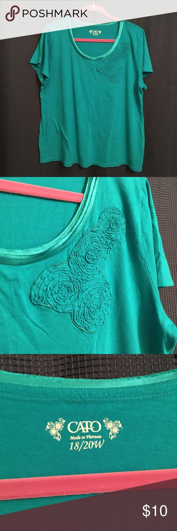 Teal blouse size 18/20W Excellent condition! Cato brand size 18/20 teal blouse. No tears or stains! Like new! Cato Tops