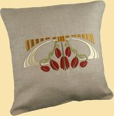 Arts & Crafts - Embroidered Pillows - Family Woodworks LLC - Bungalow - Craftsman - Linens - Embroidery