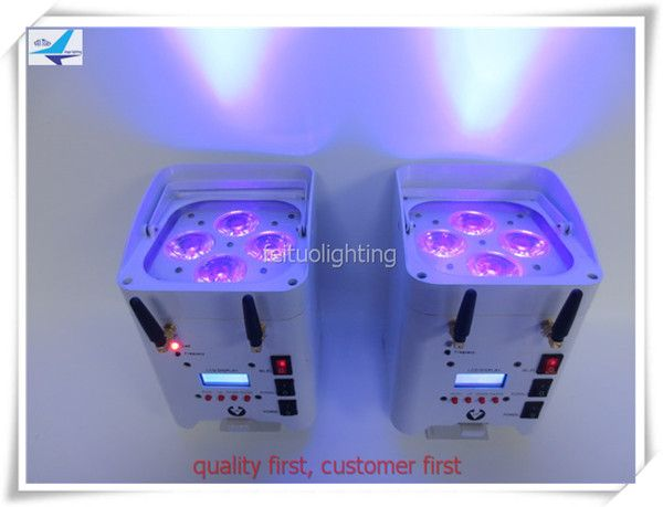 Awesome Stage lighting effect par led battery wifi dmx xw rgbwa uv led wash battery powered flat